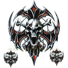 Evil Tribal Skull Crossbones