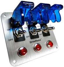 3 Toggle Switch Panel - Translucent Blue