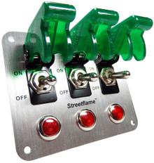 3 Toggle Switch Panel - Translucent Green
