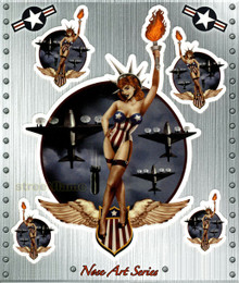 Nose Art Series: Miss USA Pin-Up Girl Liberty
