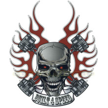 Built 4 Speed Skull Decal