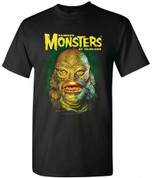 Famous Monsters of Filmland   CREATURE FROM THE BLACK LAGOON  [PORTRAIT]  T-Shirt adult unisex shirt