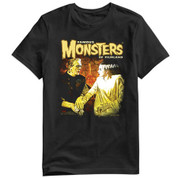 Famous Monsters of Filmland   FRANKENSTEIN & BRIDE OF  T-Shirt adult unisex shirt