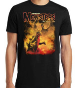 Famous Monsters of Filmland Godzilla vs Rodan T-Shirt adult unisex shirt