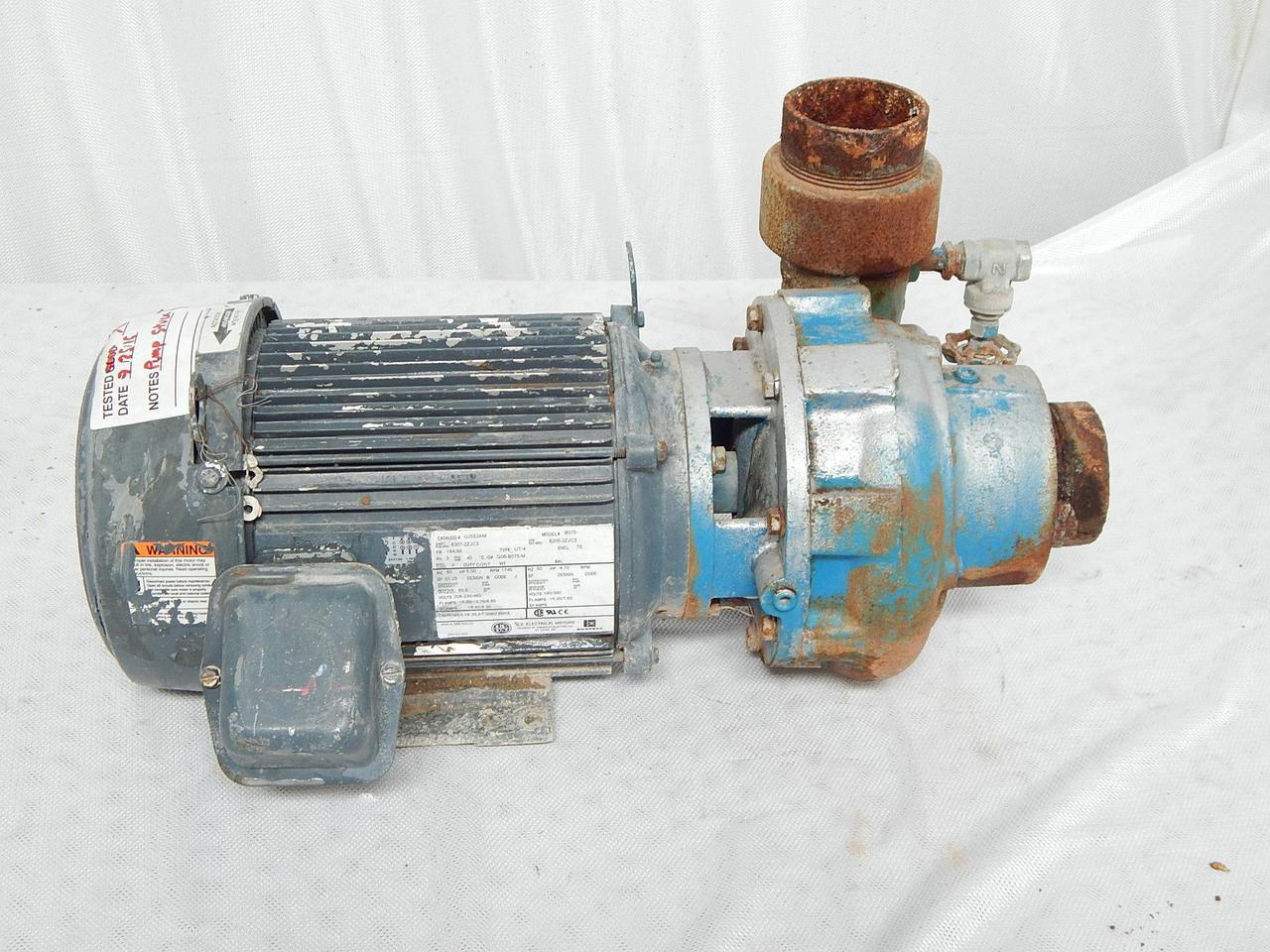 U.S. Electrical Motors UJ5S2AM, FR 184JM AC Motor w/ Pump, Model ...