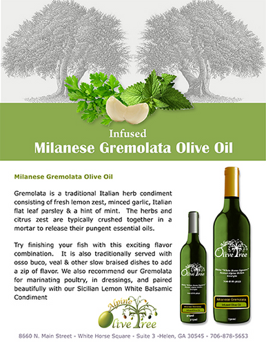 Milanese Gremolata Olive Oil Fusti Tag