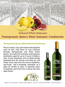 Pomegranate-Quince Balsamic Condimento