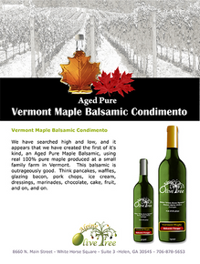 Vermont Maple Balsamic Condimento