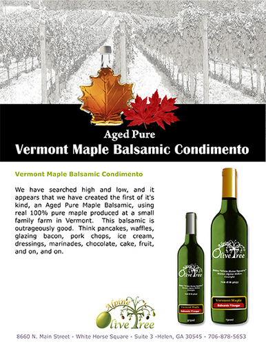 Vermont Maple Balsamic Fusti Tag