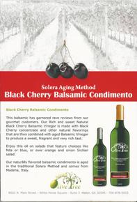 Black Cherry Balsamic Condimento