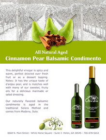 Cinnamon-Pear Balsamic Condimento
