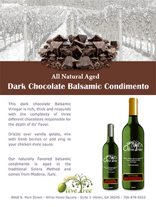 Dark Chocolate Balsamic Condimento