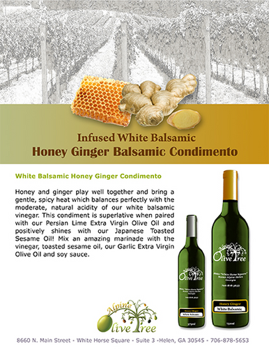 Honey Ginger Balsamic Fusti Label