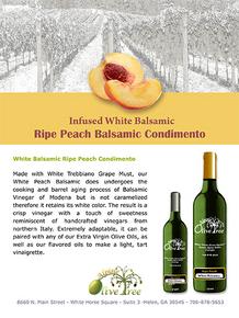 Ripe Peach Balsamic Condimento