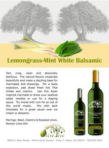 Lemongrass Mint Balsamic Concimento