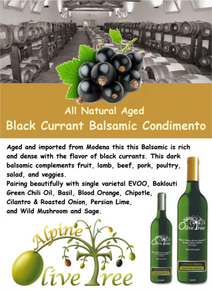 Black Currant Balsamic Condimento