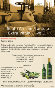 South African Frantoio Extra Virgin Olive Oil