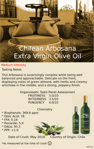 Chilean Arbosana Extra Virgin Olive Oil