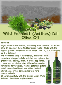 Wild Fernleaf Dill Infused Olive Oil