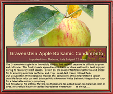 Gravenstein Apple White Balsamic Condimento