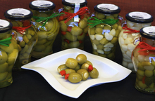 Gordal Olives Stuffed w/Garlic & Red Chili