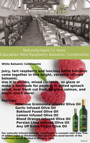 Cascadian Wild Raspberry White Balsamic Condimento