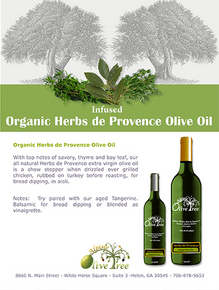 Organic Herbs de Provence Olive Oil