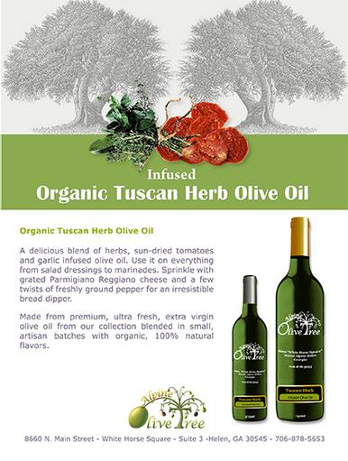Tuscan Herb Olive Oil Fusti Tag
