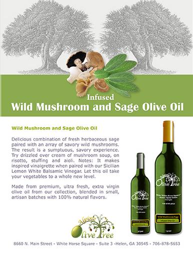 Wild Mushroom and Sage Olive Oil Fusti Tag