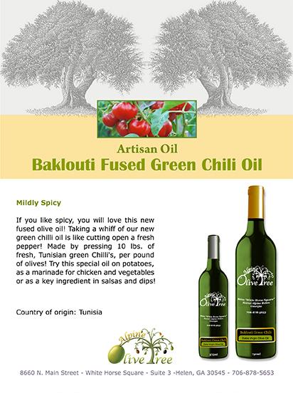 Baklouti Fused Green Chili Oil