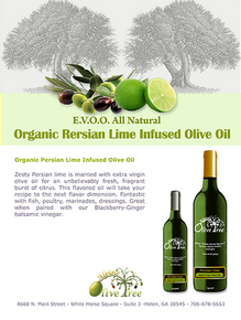 Organic Persian Lime Infused Olive Oil