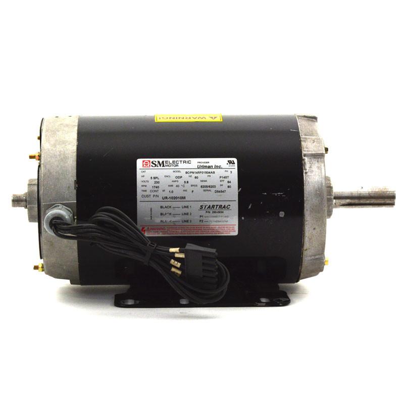 Drive Motor, Startrac 5 0HP, AC, Black, Refurbished/Exchange*