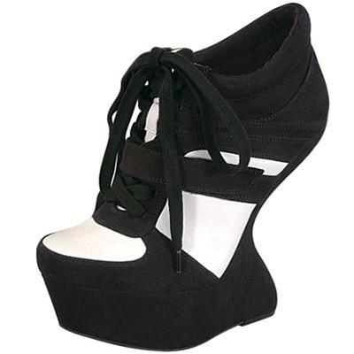 Curved Heel Less Platform Trainer Sneaker