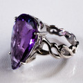 Amethyst Teardrop Facet Ring - AC