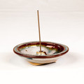 Ceramic Wheel  Incense Burner - Rust Rim