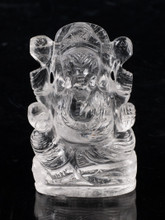 Ganesh Clear Quartz carving