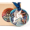 Raku Hummingbird Ornament