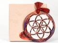 Raku Ornament Medallion - Flower Of Life