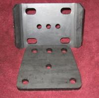 GM Dana 60 U-bolt Plates, Front (pair)