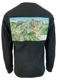 Killington Logo Trail Map Long Sleeve Tee