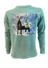 Killington Logo Youth Chairlift Moose Long Sleeve Tee