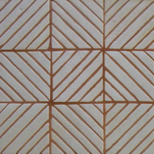 "Decorative tile ""Vertical Diagonal"" - 10x10cm - Glazed in crystalline white."