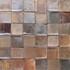 "Decorative tile ""Metallic"" - 5 x 5cm - Glazed in crystalline metallic and grey tones."