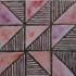 "Decorative tile ""Nadezhda"" - 10x10cm - Glazed in crystalline purple tones."
