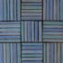 "Decorative tile ""Tacos Vertical"" - 10x10cm - Glazed in matt blue tones."