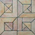 "Decorative tile ""Senegal"" - 20 x 20cm - Glazed in matt ocre, cream and browns."