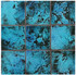 "Decorative tile ""Rustico"" - 10x10cm - Glazed in crystalline turquoise."