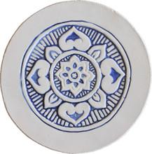 Mandala wall art border - blue [21cm]