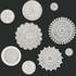 Ceramic circles wall art mixed designs beige & white