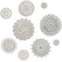 Wall decoration Moroccan circle designs beige & white